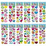 PMSMT 12 Hojas/Set Cute Love Heart Shape Bubble Foam Sticker para niños niñas Dibujos Animados 3D Scrapbooking Pegatinas Juguetes Regalo