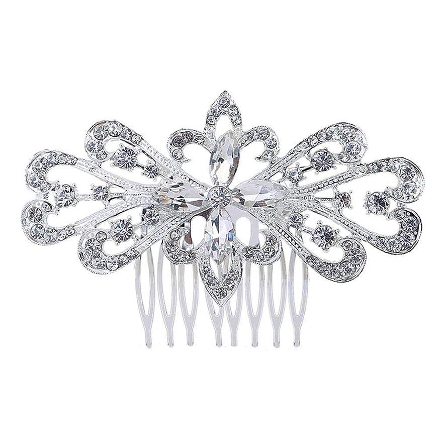 哀れな来て来て髪の櫛の櫛の櫛の花嫁の髪の櫛の花の髪の櫛のラインストーンの挿入物の櫛の合金の帽子の結婚式のアクセサリー