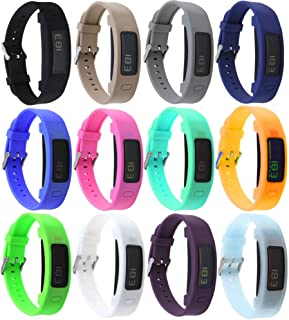 Silicone Replacement Band with Chrome Watch Clasp and Fastener Buckle for Garmin Vivofit 2