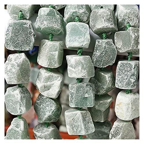 YSJSPKK Naturkristall rau Natürliche roh raue ametyst Citrin e kristall Quarz 40 cm Strang ca. 15 perlen Chunky Nugget unpoliert Rock zentral gebohrt (Color : Aventurine)