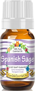 Pure Gold Spanish Sage Essential Oil, 100% Natural & Undiluted, 10ml