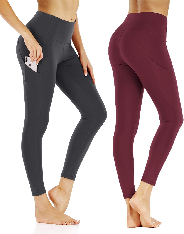 High Waist Yoga Pants with Pockets,Tummy Control Hip Lift,Workout Running Leggings Shapewear
