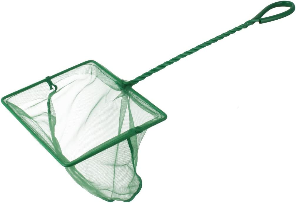 OFFicial mail order uxcell Aquarium Fishbowl Spiral Handle Mesh Gre Max 64% OFF Landing Fish Net