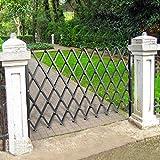 VEVOR Single Folding Security Gate, 6-1/2' H x 6-1/2' W Folding Door Gate, Steel Accordion Security Gate, Flexible Expanding Security Gate, 360° Rolling Barricade Gate, Scissor Gate/Door with Padlock