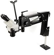 Multi-Directional Micro-Setting Stand for Jewelrly Making +Binocular Microscope 7X-45X Multi-Directional Stand Braket φ85mm Micro Mirror Jewelry Microscope Stand