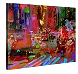Gallery of Innovative Art Premium Leinwanddruck 100x75cm – Big City Life – XXL Kunstdruck Auf Leinwand Auf 2cm Holz-Keilrahmen Für Schlaf- Und Wohnzimmer