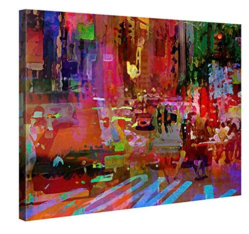 Picanova – Big City Life 100x75cm – Premium Afdruk Op Canvas – Wanddecoratie Canvas Op Een Houten Frame Gespannen Als Modern Galerijkunstwerk – Joe Ganech