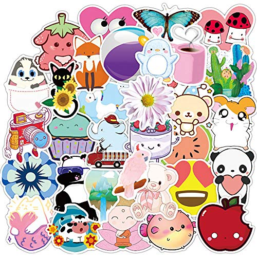 Ratgoo 50 Pcs Cute Vsco Waterproof Vinyl Decal Stickers Pack for Water Bottle Laptop Guita Flasks Phone Computer,Stickers Gift for Girls Boys Teens Students Kids.