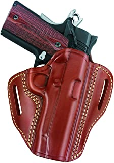 """Gould & Goodrich 800-194 Gold Line Open Top Two Slot Holster (Chestnut Brown) Fits most 1911-type pistols with 3.0"""" to 4.25"""" bbl incl. COLT Defender, Officer's ACP, Commander Combat Commander, Lightweight CCO; KIMBER Ultra, Elite, Compact, Pro; PARA-ORDNANCE P10, P12, P13, P14, P15; SPRINGFIELD Ultra Compact; WILSON Ultra Compact"""