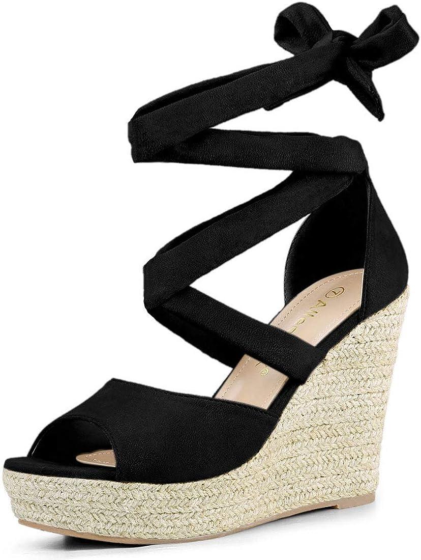 Department store Allegra K Women's Lace Award Up Sandals Wedges Espadrilles