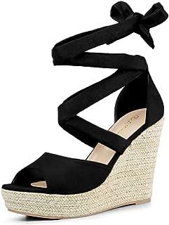 Women's Lace Up Espadrilles Wedges Sandals