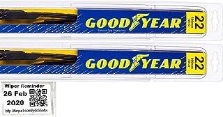 Premium - Windshield Wiper Blade Set/Kit/Bundle for 1997-2004 Chevrolet Corvette - Driver & Passenger Blades & Reminder Sticker