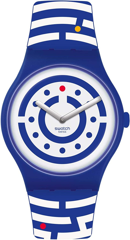 Special sale item Swatch Men's Quartz Low price Watch with Silicone Multicolour Strap 20