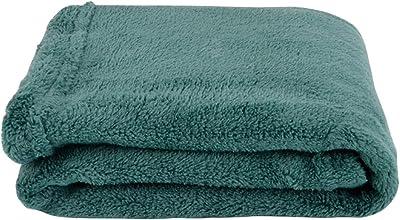 犬用毛布毛布ペット用毛布四季厚く厚い暖かい毛布 ZHAOSHUNLI (Color : Dark green, Size : 50*60cm)