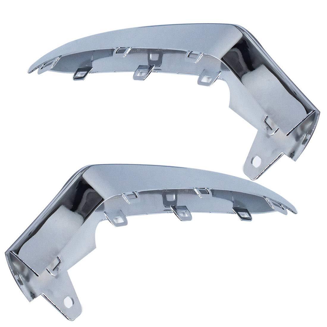 * Unpainted Front Bumper Molding Stripe+Chrome Trim For Mercedes Benz W211 03-06
