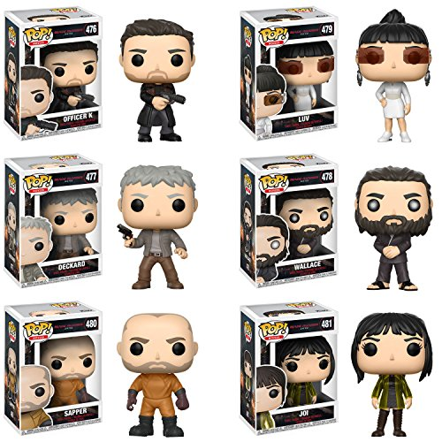 Funko Pop Movies Blade Runner 2049 Officer K, Deckard, Wallace, Luv, Sapper, Joy Vinyl Figues SET
