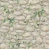 Papier peint imitation pierre beige 8344-16 | Papier peint lierre & pierre | Papier peint pas cher pour cuisine & couloir | Achat en ligne !