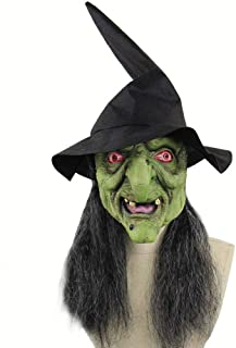 FLYWM,Walking Dead Full Head Mask, Zombie Costume Party Rubber Latex Mask for Halloween