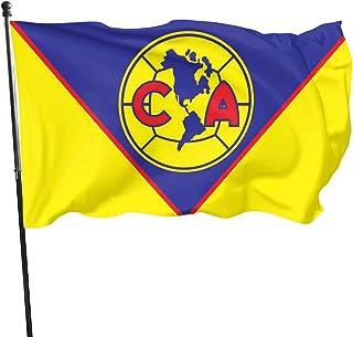 PT&CM نادي أمريكا العلم، لون مشرق مقاوم للبهتان البوليستر النحاس الأزرار للديكور الداخلي والخارجي 3X5