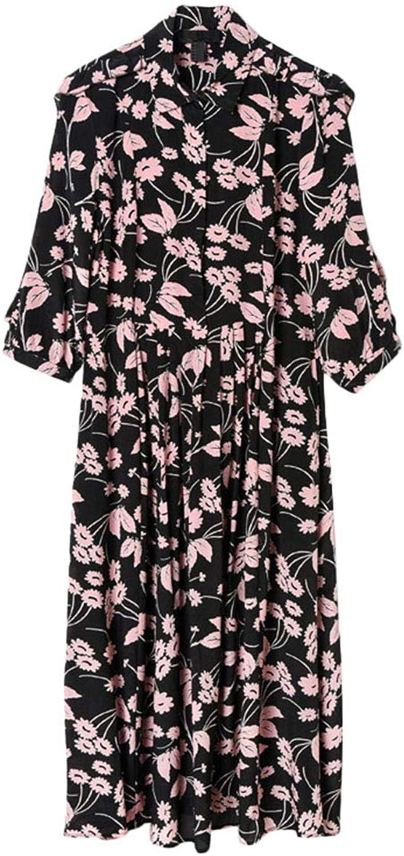 Ckouccoo 2019 Spring and Summer New Female Silk Lady Wind Belt Long Section Slim Waist Elegent Flower Exotic Fashion Classic