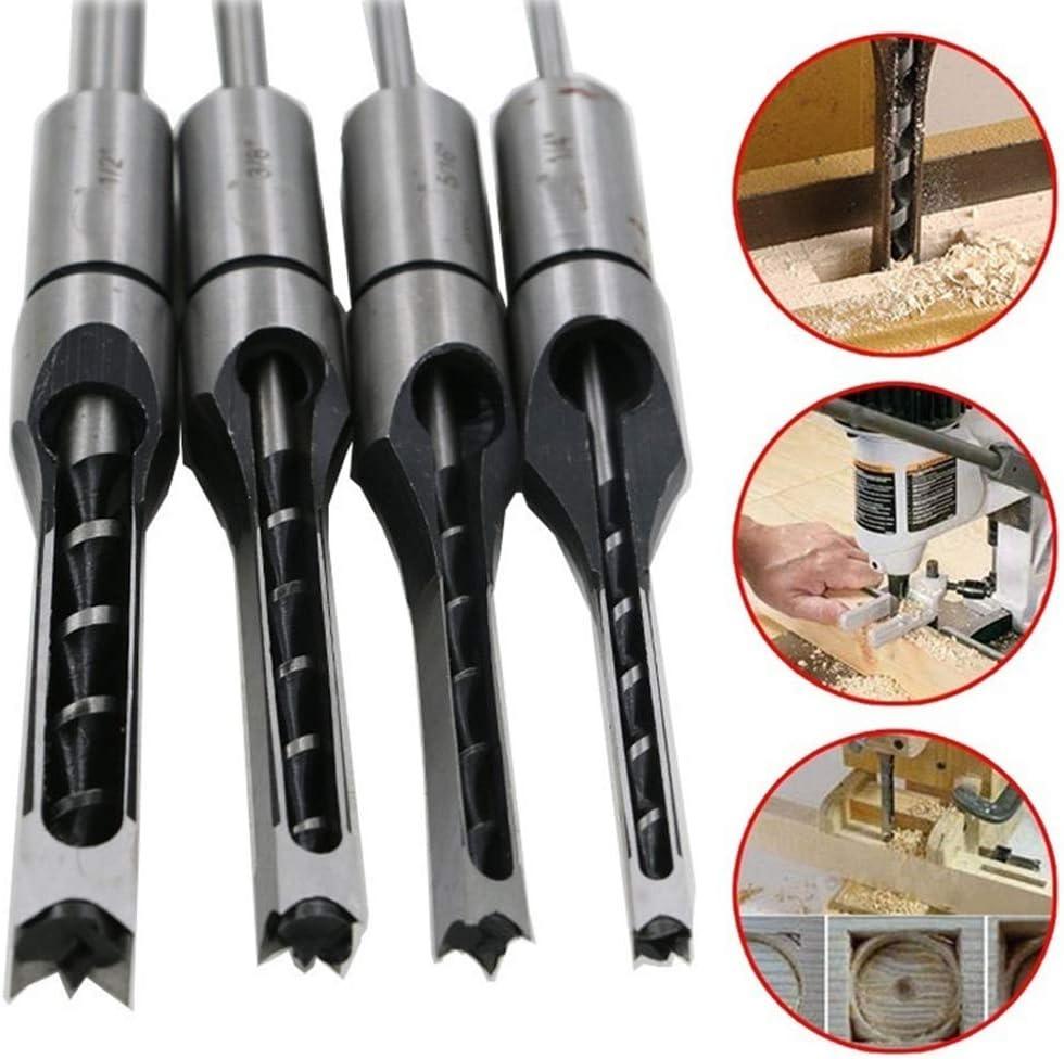 Valensha 6//6.4//8//10//12.7mm HSS Square Hole Drill Bit HSS Twist Drill Bit Screw Drill Bits Mortising Chisels Woodworking Tool 10mm