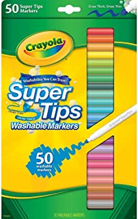 Crayola Super Tips Washable Markers-50/Pkg - Styles May Vary