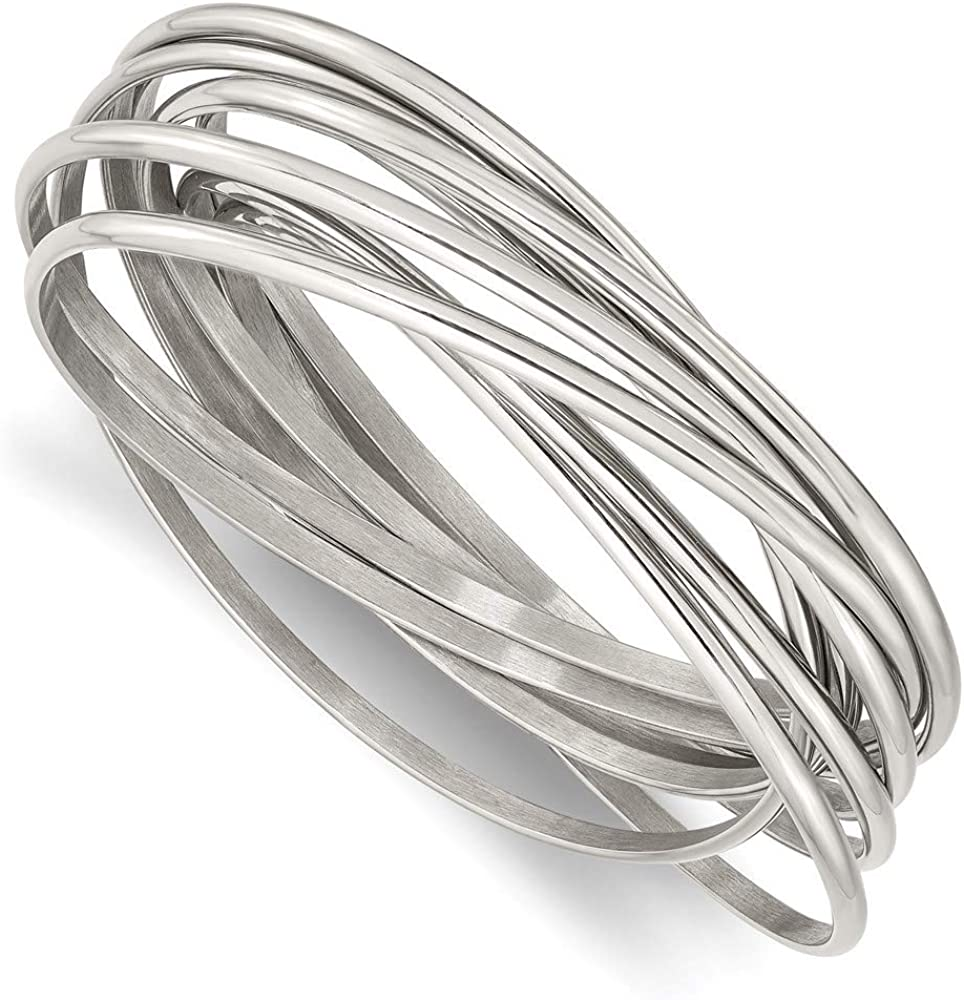 Ryan Jonathan Fine Jewelry Stainless Steel Intertwined Bangle Bracelet