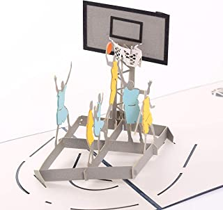 Handmade 3D Pop Up Cards - Basketball Handmade Pop Up Greeting Card for Your Loved Ones, Wedding Anniversary Card for Couple, Valentine Day, Happy Birthday Cards