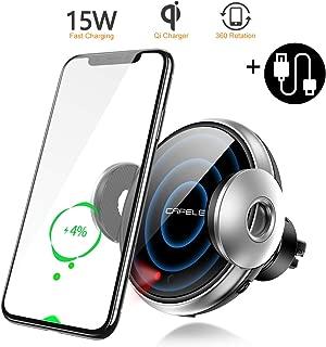 Wireless Car Charger Mount,Auto-sensing Air Vent Car Phone Mount Wireless Charger Compatible with iPhone 11 Pro Max Xs X XR 8plus, Samsung S10 S10plus/ S9 S9plus/ S8 S8plus etc