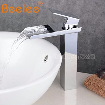 S.Twl.E Sink Mixer Tap Faucet Bathroom Kitchen Basin Tap Leakproof Save Water Bathrooms White Paint Single Hole Hot And Cold Full Copper