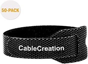 Cable Ties 6 inch, CableCreation 50PCS Reusable Fastening Organizer Cord/Tie Wrap, Nylon Adjustable Cable Management, 6 inch/Black