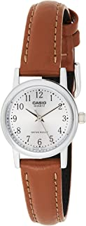 Casio Women'S Grey Dial Leather Band Watch -Ltp-1095E-7Bdf, One Size