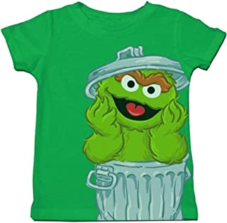 Oscar The Grouch Oversize in Trash Can Toddler T-Shirt