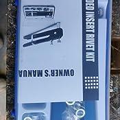 Hseamall 106pcs Nietpistole Gewinde Einsatz Werkzeug Vernieten Kit Nutsert Gun M3 M4 M5 M6 M8 Gewinde Blindnietzange Baumarkt
