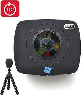 Nk NK-AC3091-36D WIFI - Cámara de Acción Doble Óptica Wifi USB 360º X2 Negro
