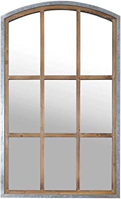 Amazon.com: My Swanky Home Carrefour Iron Mirror - 4 Panes ...