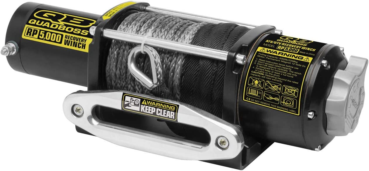 New QuadBoss 5000 lbs. outlet UTV Synthetic Rope Specif Cheap mail order sales Model Winch