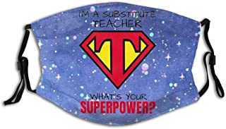 Promini superhjälte lärare personlig munärm återanvändbar munskydd