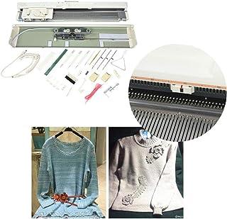 Machine à Tricoter électronique,SK840 Acier Inoxydable 4,5mm Jauge Standard 200 Points Ensemble Métier Tisser intelligent ...