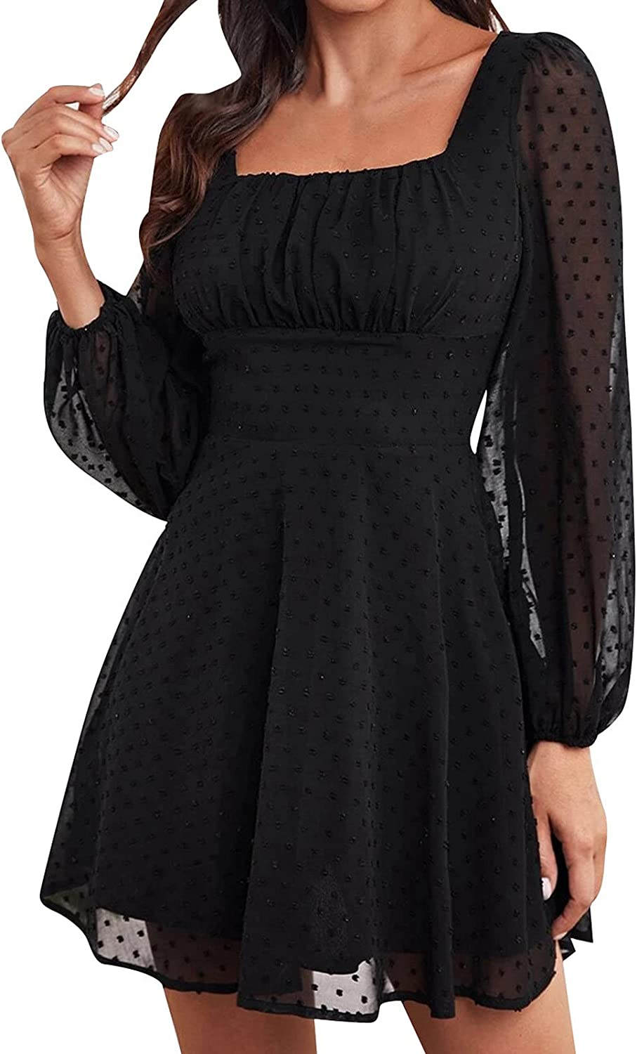 Women Dresses One Shoulder Long Sleeve Ruched Midi Dress Sexy Dresses with Belt