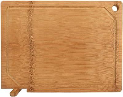 リバーシブルカッティングボード、より太くて太い立ち割れのない竹チョッピングボード、ジュース溝付き、BPAフリー、肉野菜用フルーツチーズ