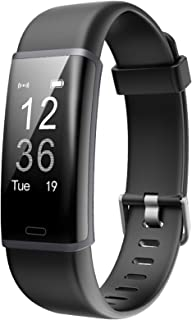 Lintelek Fitness Tracker Heart Rate Monitor, Activity Tracker, Pedometer Watch with Connected GPS, Waterproof Calorie Counter, 14 Sports Modes Step Tracker for Women, Men, Kids and Gift