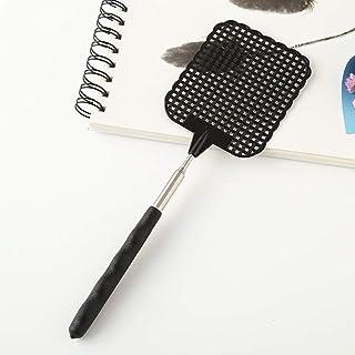 RaiFu ハエたたき 伸縮可能 プラスチック ホーム ロングハンドル フライワッター フラッパー 昆虫キラー 黒