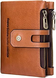 Contacts RFID Blocking Beige Leather Men's Wallet