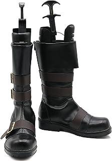[スタアナ] NieR Automata ニーア オートマタ 9S(ヨルハ九号S型) 風 コスプレ靴 中性 ゲーム風 長靴 ロング ブーツ 靴 PU