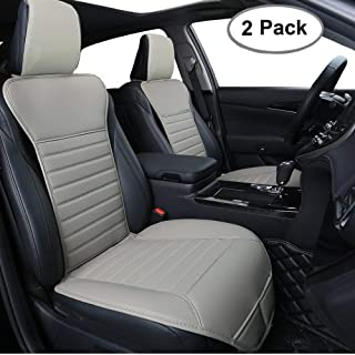 Big Ant Car Seat Cushion, Sleek Design Full Size 2 PCS Breathable Universal Four Seasons Interior Front or Back Seat Covers for Auto Supplies Office Chair with PU Leather(Gray)
