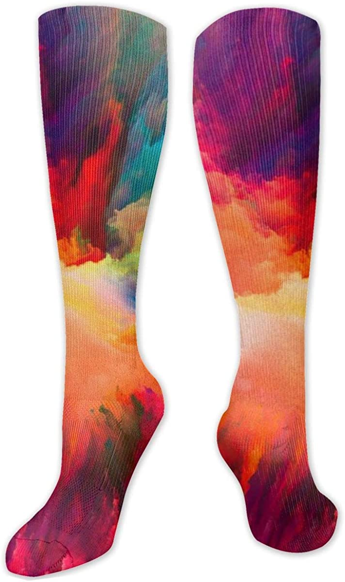 Colorful Sky Knee High Socks Leg Warmer Dresses Long Boot Stockings For Womens Cosplay Daily Wear