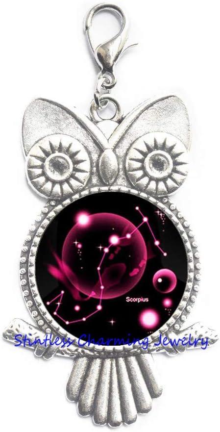 Scorpio Owl Zipper Pull Minneapolis Super Special SALE held Mall Zodiac Jewelry Scorpion November October