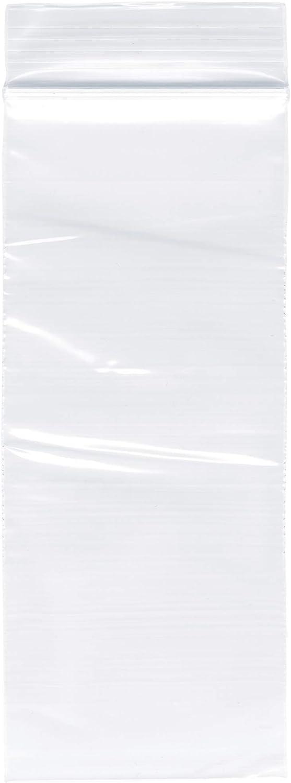 Plymor Zipper Reclosable Plastic OFFicial shop Bags 2 Mil 1 2