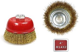 3/pezzi spazzola a tazza in acciaio filo annodato 75/mm M14/x 2/per smerigliatrice angolare flex